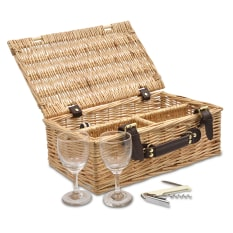 Eco Wicky Wicker Wine Picnic Basket