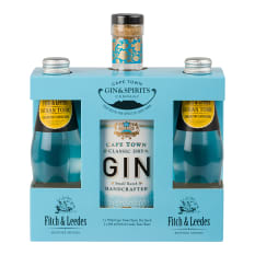 Cape Town Gin Company Classic Dry Gin with Fitch & Leedes Tonic Gift Pack