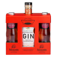 Cape Town Gin Company Rooibos Red Gin with Fitch & Leedes Ginger Ale Gift Pack