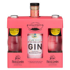 Cape Town Gin Company Pink Lady Gin with Fitch & Leedes Tonic Gift Pack