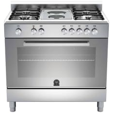La Germania Europa Stainless Steel Gas & Electric Hob with Electric Oven, 90cm