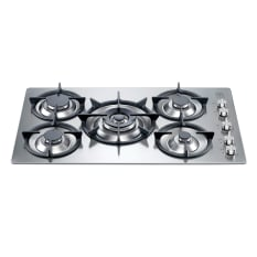 La Germania Stainless Steel 90cm 5 Burner Hob with 5kW Wok & Ring Pot Stands