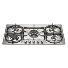 La Germania Stainless Steel 5 Burner Hob with 3.5kW Wok, 90cm