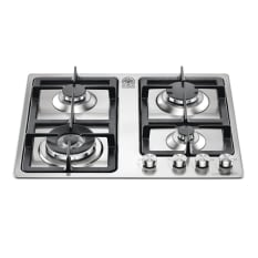 La Germania Stainless Steel 4 Burner Hob with 5kW Wok, 60cm
