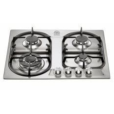 La Germania Stainless Steel 4 Burner Hob with 3.5kW Wok, 60cm