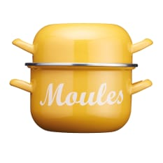 Kitchen Craft World of Flavours Enamel Mussel Pot, 2.5 Litre