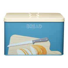 KitchenCraft Patterned Steel Storage Bread Bin