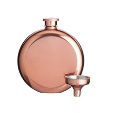 Kitchen Craft BarCraft Stainless Steel Hip Flask with Copper Finish