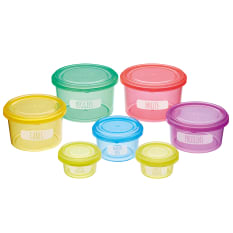 Kitchen Craft Healthy Eating Stackable Portion Control Pots, Set of 7