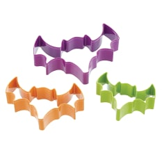 KitchenCraft Spookily Does It 3 Piece Bat Shaped Cookie Cutter Set