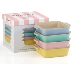 Le Creuset Sorbet Collection Square Dishes, Set of 4