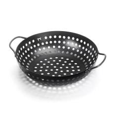 Outset Non-Stick Round Grill Wok, 27cm