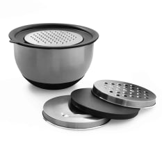 Eetrite Mixing Bowl with Lid & 3 Grater Attachments