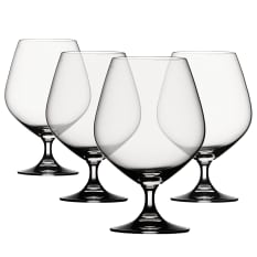 Spiegelau Lead-Free Crystal Vino Grande Cognac Glasses, Set of 4