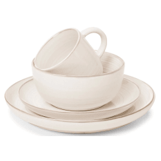Jamie Oliver Rimple White 16 Piece Dinner Set