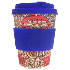 ECoffee Cup William Morris Bamboo Travel Mug, 350ml