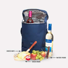 Eco Cheese and Wine Cooler Bag Set