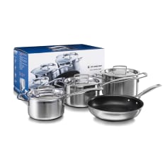 Le Creuset 3 Ply Stainless Steel 4 Piece Cookware Set