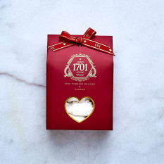 1701 Nougat Rose Turkish Delight & Almond Nougat Box, 160g