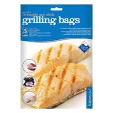 Kitchen Craft Reusable Non-Stick Grill Bags, Pack of 3