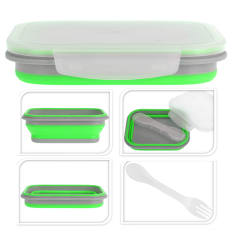 Eco Collapsible Lunch Box With Fork