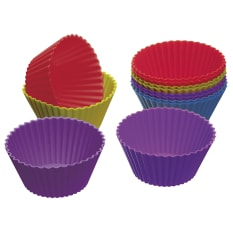 KitchenCraft Pack of Twelve Silicone Cupcake Cases
