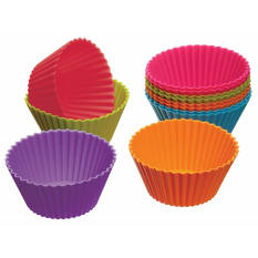 Kitchen Craft Pack of Twelve Silicone Cupcake Cases