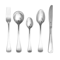 TableKraft Elite 40 Piece 18/10 Stainless Steel Cutlery Set