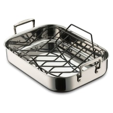 Le Creuset 3 Ply Stainless Steel Roaster with Rack, 35cm