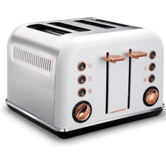 Morphy Richards 4 Slice Toaster With Rose Gold Accents