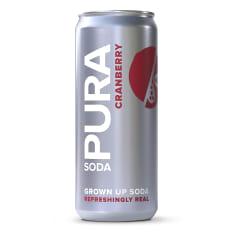 Pura Soda Cranberry Soda