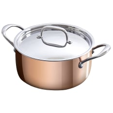 Eetrite Copper Casserole with Lid