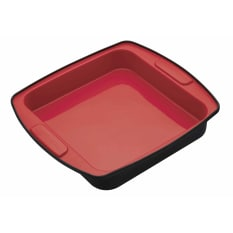 MasterClass Smart Silicone Flexible Square Bake Pan, 23cm