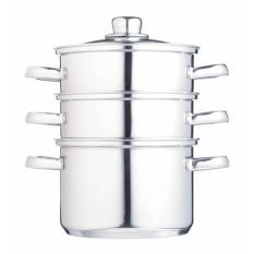 Kitchen Craft Stainless Steel Three Tier Steamer