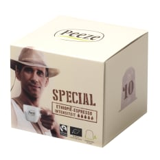 Peeze Biodegradeble Coffee Pods Espresso Sidamo Special, Pack of 10
