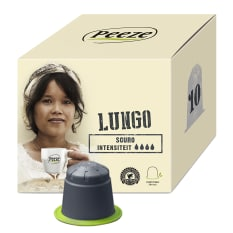 Peeze Coffee Biodegradable Coffee Pods Lungo Scuro, Pack of 10