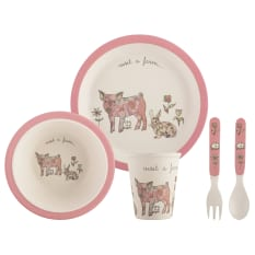 Creative Tops Visit A Farm Kids Dinner Set, 5 Piece
