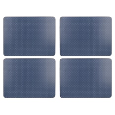 Creative Tops Katie Alice Vintage Indigo Rectangular Lacquered Finish Placemats, Set of 6