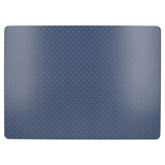 Creative Tops Katie Alice Vintage Indigo Large Rectangular Lacquered Finish Placemats, Set of 4