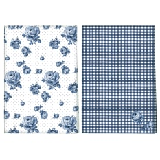 Creative Tops Katie Alice Indigo Tea Towels, Set of 2