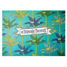 aLove Supreme Rectangular Disposable Paper Placemats, Pack of 48