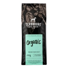 Terbodore Coffee Roasters Organic Filter Ground Coffee, 250g