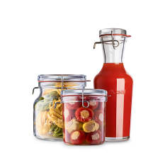 Luigi Bormioli Lock-Eat Frigo-Jars, Set of 3