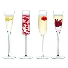 LSA International Lulu Champagne Flute Glasses, Set of 4