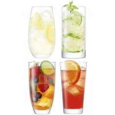 LSA International Lulu Highball Glasses, Set of 4