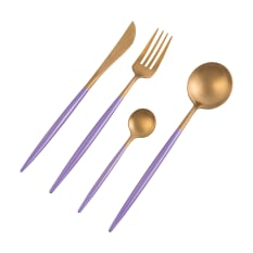 Nicolson Russell Dubai Gold & Violet 16 Piece Cutlery Set
