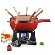 Spring Cast Iron Fondue Set