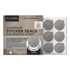 Sealpod Aluseal Aluminium Stickers For NCaps Coffee