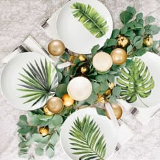 Nicolson Russell Tropical Mixed Leaves Dessert Plates, Set of 4