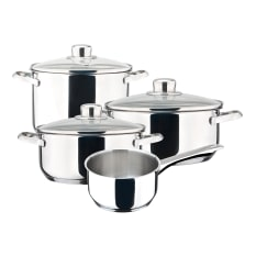 Magefesa Dux Stainless Steel Cookware Set, 7 Piece